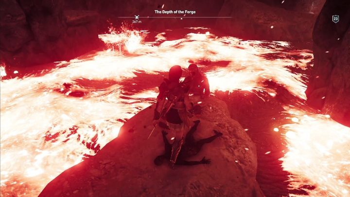 Riddle solution: Go to the Ancient Forge of Hephaistos, located inside a volcano - Ainigmata Ostraka in Argolis in Assassins Creed Odyssey Game - Ainigmata Ostraka - Assassins Creed Odyssey Guide
