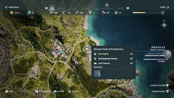 3 - Ainigmata Ostraka in Argolis in Assassins Creed Odyssey Game - Ainigmata Ostraka - Assassins Creed Odyssey Guide