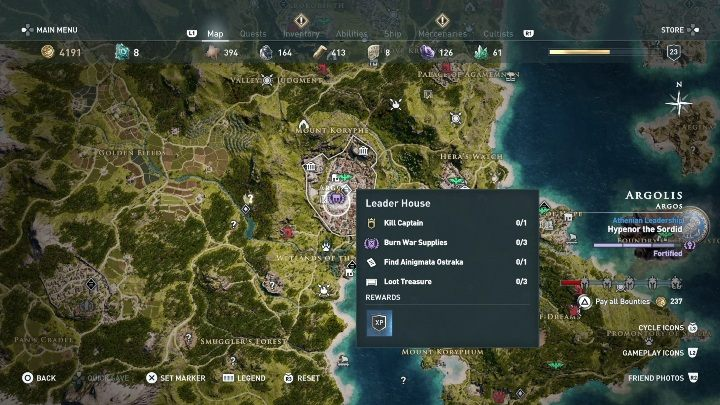 5 - Ainigmata Ostraka in Argolis in Assassins Creed Odyssey Game - Ainigmata Ostraka - Assassins Creed Odyssey Guide