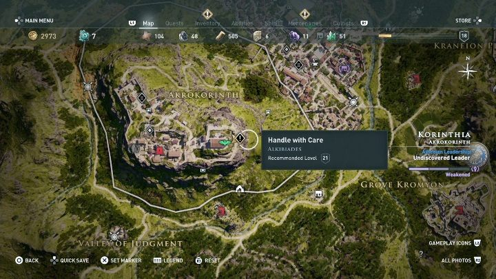 The mission starts: when you talk to Alikibiade after you complete the main quest - Side Quests in Korinthia in Assassins Creed Odyssey - Side Quests - Assassins Creed Odyssey Guide