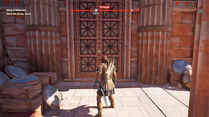 Xenia lives with pirates on the small island of Keos, which is part of the Pirate Islands archipelago and adjacent to the Attika region, as shown in picture 1 - Xenia - Romances in Assassins Creed Odyssey - Romances - Assassins Creed Odyssey Guide