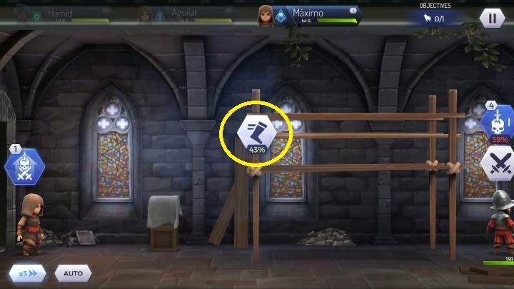 You can also run on the beams using the interaction shown on the screen above - How to avoid direct confrontation Assassins Creed Rebellion? - Combat - Assassins Creed Rebellion Guide