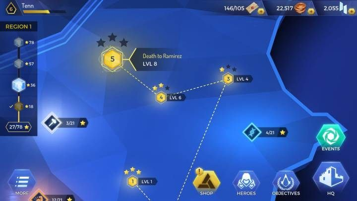 If you dont get all the stars you wanted, you can repeat the mission at any time - How to gain experience levels in Assassins Creed Rebellion? - Basics - Assassins Creed Rebellion Guide