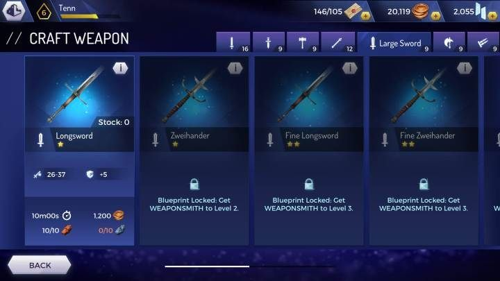 Longsword - Weapons available in the Assassins Creed Rebellion game - Equipment - Assassins Creed Rebellion Guide