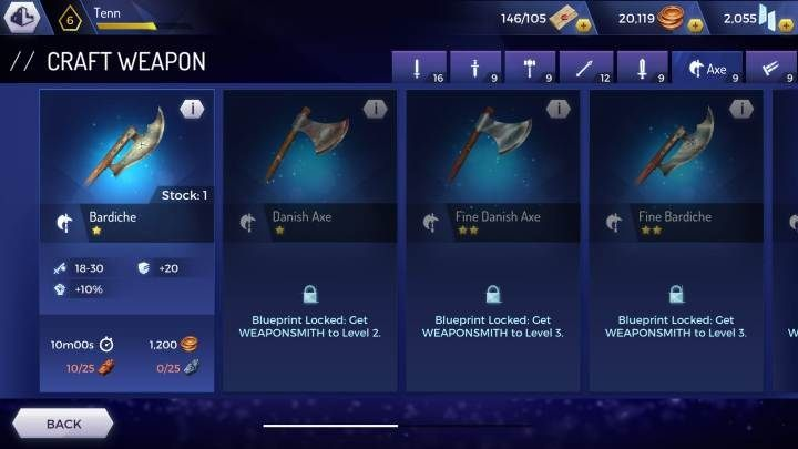 Bardiche - Weapons available in the Assassins Creed Rebellion game - Equipment - Assassins Creed Rebellion Guide