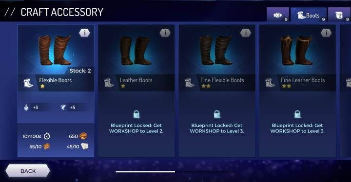 Flexible Boots - Accessories available in the Assassins Creed Rebellion game - Equipment - Assassins Creed Rebellion Guide