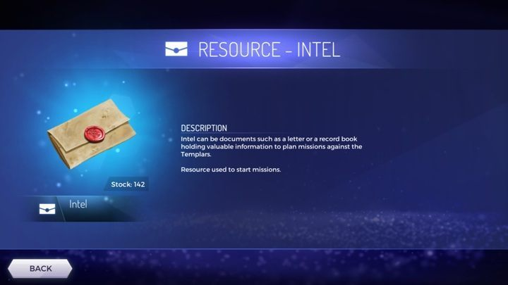 Intel is an unusual type of currency - What type of resources are available in the Assassins Creed Rebellion? - Currency and Shop - Assassins Creed Rebellion Guide