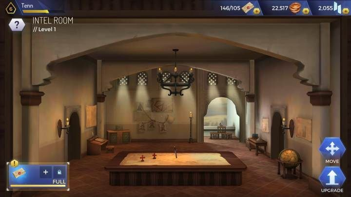 Level: 3 - Types of headquarters rooms in Assassins Creed Rebellion - Headquarters - Assassins Creed Rebellion Guide