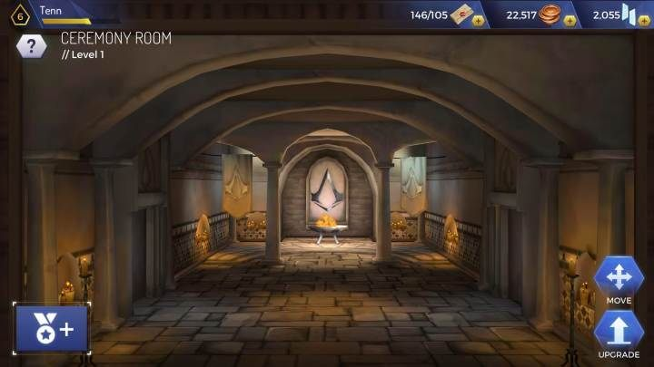 Level: 6 - Types of headquarters rooms in Assassins Creed Rebellion - Headquarters - Assassins Creed Rebellion Guide