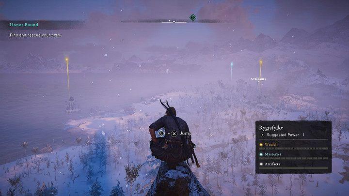 Как только вы подниметесь немного выше, вы заметите первую точку обзора, которую стоит синхронизировать - Assassins Creed Valhalla: прохождение Honor Bound - Rygjafylke - Assassins Creed Valhalla Guide