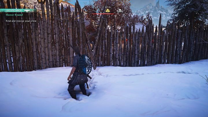 Лучший способ войти в лагерь Авальднесс - через боковые ворота, потому что главный вход охраняется воинами - прохождение Assassins Creed Valhalla: Honor Bound - Rygjafylke - Assassins Creed Valhalla Guide