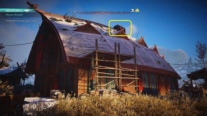 Воспользуйтесь этим моментом, чтобы запрыгнуть на леса и прокрасться в проход на самом верху, где вы попадете внутрь - Assassins Creed Valhalla: прохождение Honor Bound - Rygjafylke - Assassins Creed Valhalla Guide