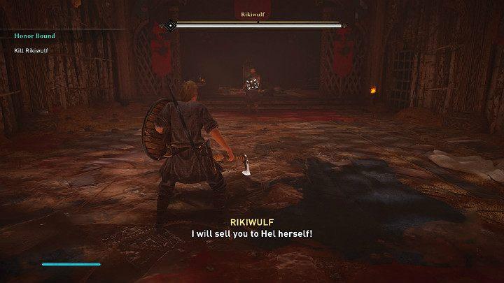У противника есть два набора оружия: двуручный топор с большим радиусом действия и два одноручных молота - прохождение Assassins Creed Valhalla: Honor Bound - Rygjafylke - Assassins Creed Valhalla Guide