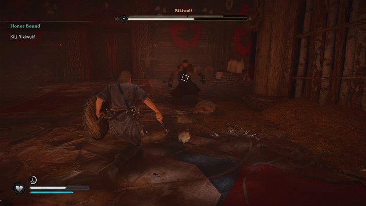 В какой-то момент Рикивульф уронит громоздкое двуручное оружие и начнет работать с двумя молотами - Assassins Creed Valhalla: прохождение Honor Bound - Rygjafylke - Assassins Creed Valhalla Guide