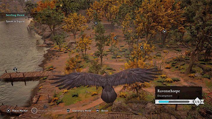 Вы узнаете больше о развитии поселения во время сюжетного квеста Settling Down - Assassins Creed Valhalla: Settlement - функции и улучшения - Основы - Руководство по Assassins Creed Valhalla