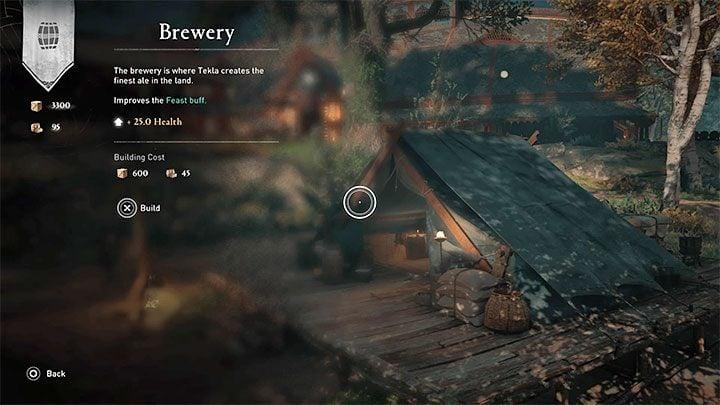 Сначала вы должны построить хотя бы одно здание в поселении, которое дает бонус к празднику - это может быть винокурня или пекарня - Assassins Creed Valhalla: Settlement - функции и улучшения - Основы - Assassins Creed Valhalla Guide