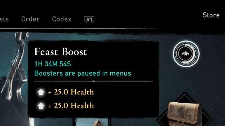 Как мы уже упоминали, стат-бонусы от пира длятся 3 часа (игра останавливает счетчик после открытия меню или экрана паузы) - Assassins Creed Valhalla: Settlement - функции и улучшения - Основы - Assassins Creed Valhalla Guide