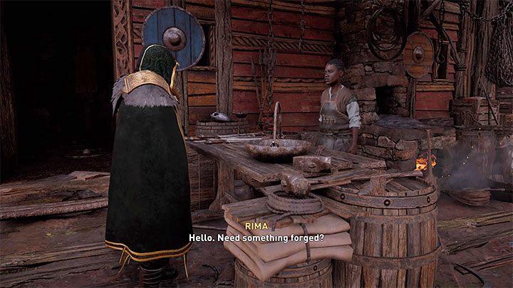 После завершения одной из более поздних саг (серии квестов) вы можете заметить, что кузнец Гуннар исчез из поселения и был заменен черной женщиной по имени Рима - Assassins Creed Valhalla: Settlement - функции и улучшения - Основы - Assassins Creed Valhalla Руководство