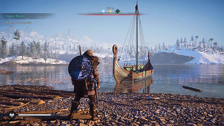 Драккар - это название корабля викингов, которое вы увидите вскоре после начала игры, а именно после победы над первым боссом Рикивульфом в рамках основного квеста Honor Bound - Assassins Creed Valhalla: Drakkar - корабль, команда, модификация - Основы - Assassins Creed Valhalla Руководство