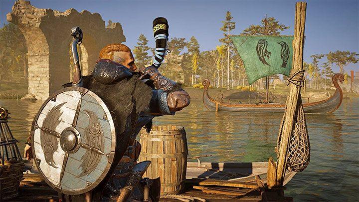 Путешествуя по игровому миру с Drakkar, вы можете либо лично управлять кораблем, либо использовать «автопилот» - Assassins Creed Valhalla: Drakkar - корабль, экипаж, модификация - Основы - Assassins Creed Valhalla Guide