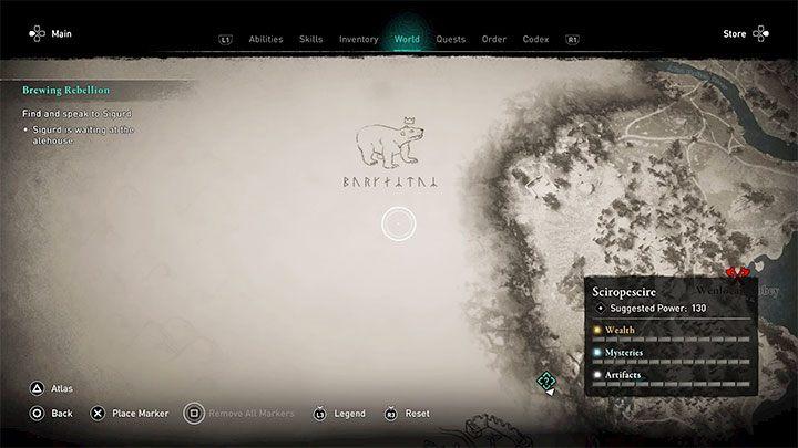 Все неисследованные области изначально охвачены так называемым - Assassins Creed Valhalla: Исследование - большие города, миссии, парусный спорт - Основы - Assassins Creed Valhalla Guide