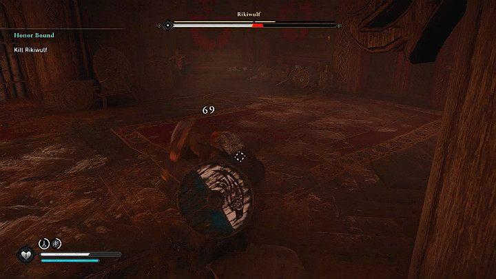 Парирование выбивает противника из равновесия, делая его уязвимым для атак на короткое время - Assassins Creed Valhalla: битва с боссом Rikiwulf - как победить?  - Боссы - Assassins Creed Valhalla Guide