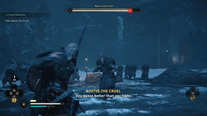 Лучше всего наносить урон боссам быстрыми атаками после того, как вы уклонитесь от его удара - Assassins Creed Valhalla: Kjotve the Cruel boss fight - как победить?  - Боссы - Assassins Creed Valhalla Guide