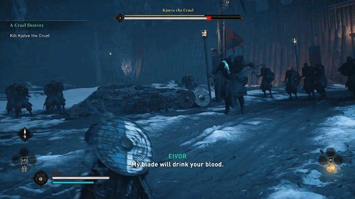 Когда Хётве теряет около 1/4 своего здоровья, он пойдет за своим оружием: двумя одноручными топорами - Assassins Creed Valhalla: Битва с жестоким боссом Хётве - как победить?  - Боссы - Assassins Creed Valhalla Guide