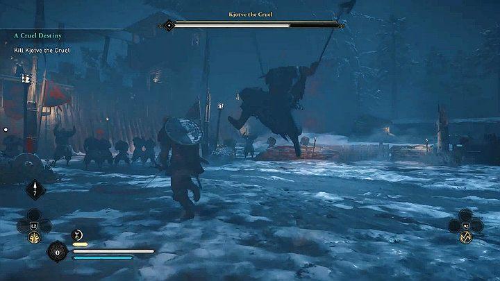 Его атака выпадом также чрезвычайно опасна - Assassins Creed Valhalla: Kjotve the Cruel boss fight - как победить?  - Боссы - Assassins Creed Valhalla Guide