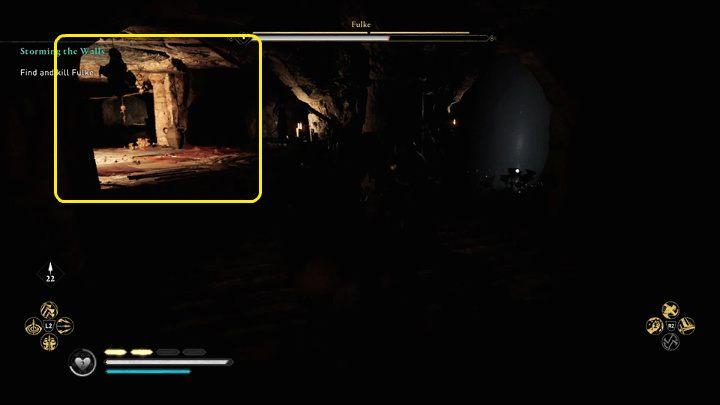 Как только Фульк потушит костер в центре арены, немедленно переходите к следующей освещенной области - Assassins Creed Valhalla: битва с боссом Фулька - как победить?  - Боссы - Assassins Creed Valhalla Guide