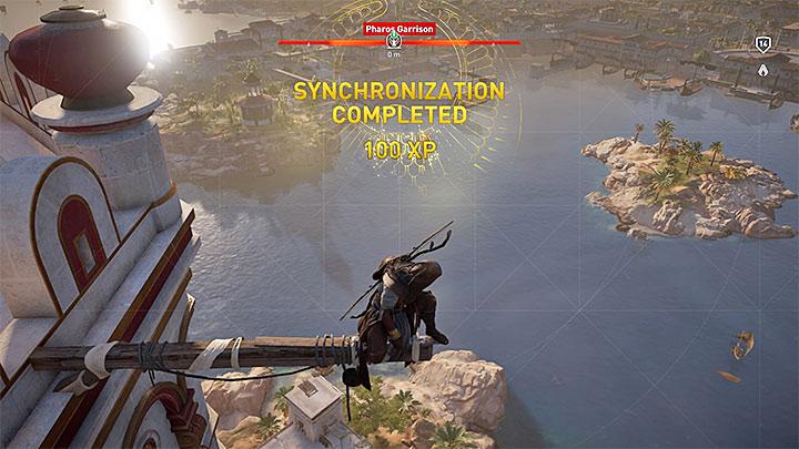 Es una buena idea alcanzar todos los puntos de ventaja y realizar sincronizaciones después de visitar una nueva parte del mapa: ¿cómo subir de nivel rápidamente en Assassins Creed Origins?  - Preguntas frecuentes - Guía del juego Assassins Creed Origins