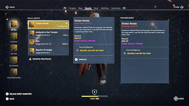 Las misiones de la comunidad se dividen en dos grupos: ¿cómo subir de nivel rápidamente en Assassins Creed Origins?  - Preguntas frecuentes - Guía del juego Assassins Creed Origins