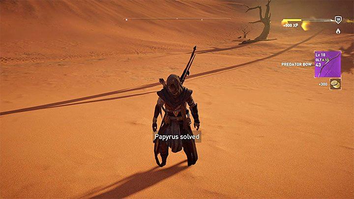 Algunas ubicaciones, marcadas con signos de interrogación en el mapa mundial, contendrán papiros. ¿Cómo subir de nivel rápidamente en Assassins Creed Origins?  - Preguntas frecuentes - Guía del juego Assassins Creed Origins