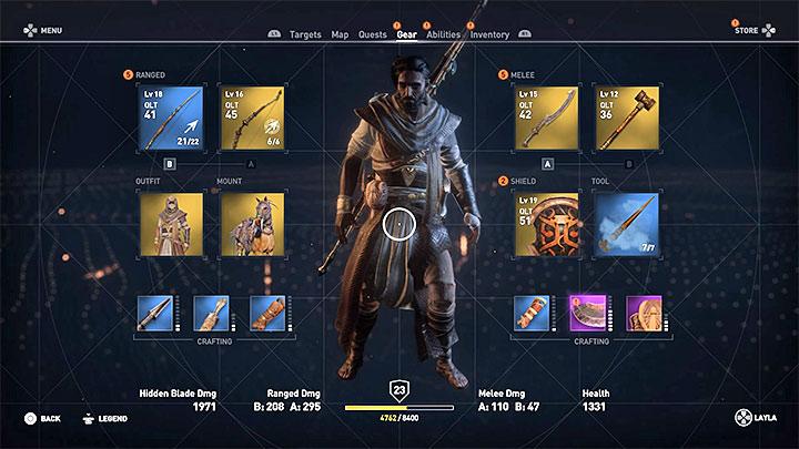 Abra la pestaña Gear y use la siguiente combinación de botones: ¿Cómo hacer crecer el cabello de Bayeks?  - Preguntas frecuentes - Guía del juego Assassins Creed Origins