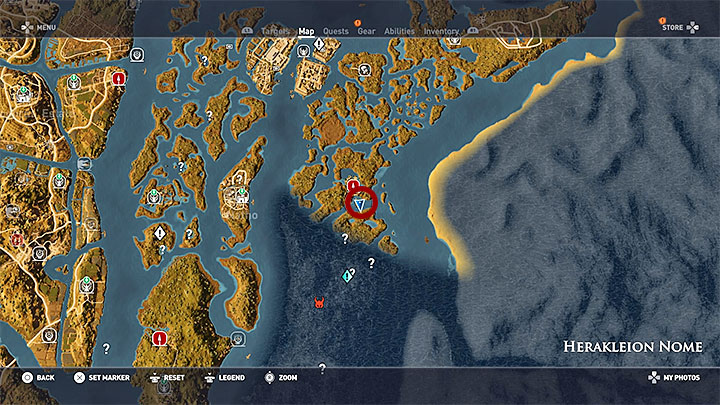 Papyrus Puzzle in Herakleion Nome - Assassin's Creed Origins Guide