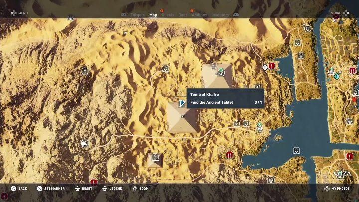 Tombs In Giza Walkthrough Assassins Creed Origins Game Guide - Giza map