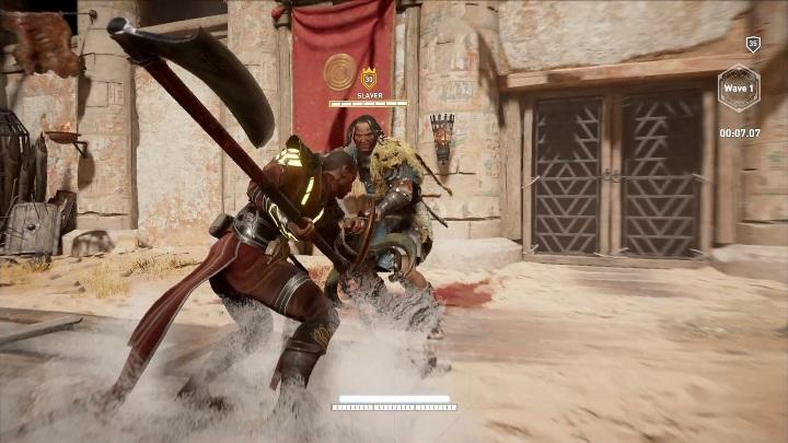 El jefe de esta etapa se llama The Slaver - ¿Cómo ganar peleas en Krokodilopolis Arena?  - Preguntas frecuentes - Guía del juego Assassins Creed Origins
