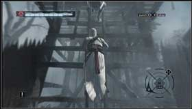 Under the palisade provoke soldiers to come to the other side. Kill them while riding a horse. - Arsuf - Memory Block 06 - Assassins Creed (XBOX360) - Game Guide and Walkthrough