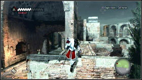 After speaking with a widower [1] go to the area marked on the map and enter the building located in northern east part [2] - Templars Agents | Side Quests - Side Quests - Assassins Creed: Brotherhood Game Guide & Walkthrough