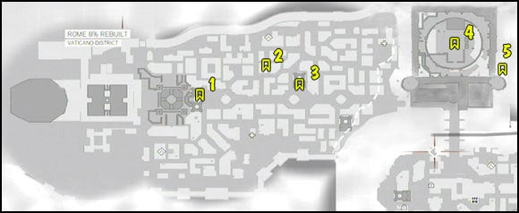 4 - Maps - Borgias Flags - Assassins Creed: Brotherhood - Game Guide and Walkthrough