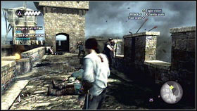 When you will be there, a cannon bullet with fly near your character [1] - Sequence 1 - Peace at Last - p. 2 - Walkthrough - Assassins Creed: Brotherhood - Game Guide and Walkthrough