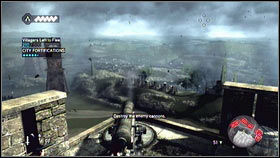 At the end, you will find a cannon [1] - Sequence 1 - Peace at Last - p. 2 - Walkthrough - Assassins Creed: Brotherhood - Game Guide and Walkthrough