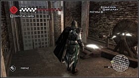 From there, jump to the next platform and turn back to the center - jump using beams - Forli - Ravaldinos Secret - Dungeons - Assassins Creed II - Game Guide and Walkthrough