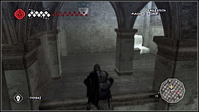 Run down through the corridor and climb on the railing - Forli - Ravaldinos Secret - Dungeons - Assassins Creed II - Game Guide and Walkthrough