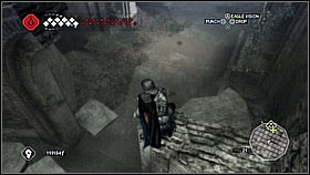 First, jump on a low wall near the mechanism and enter the next located a bit higher - Forli - Ravaldinos Secret - Dungeons - Assassins Creed II - Game Guide and Walkthrough