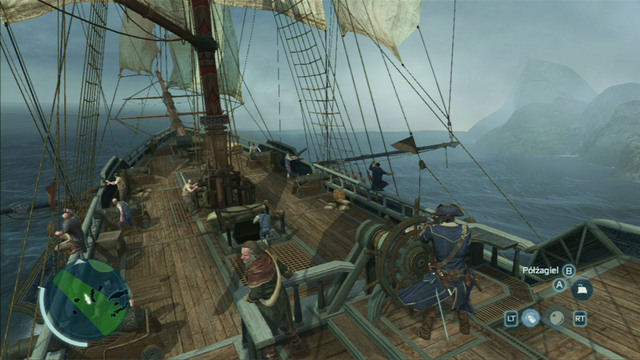 During battles, always attack smaller ships with the swivel gun and swim sideways to bigger units so that you can attack them with a full cannon volley - Naval battles - Ships - Assassins Creed III - Game Guide and Walkthrough