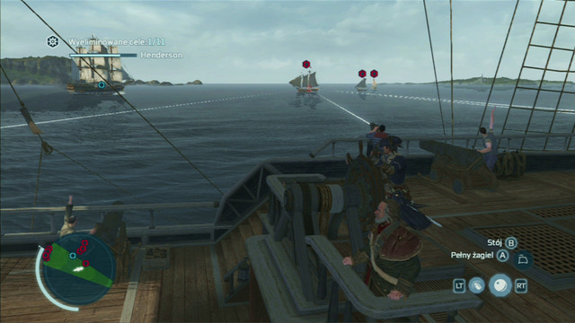 The second cannon type (swivel gun) is used with the aim button - Naval battles - Ships - Assassins Creed III - Game Guide and Walkthrough