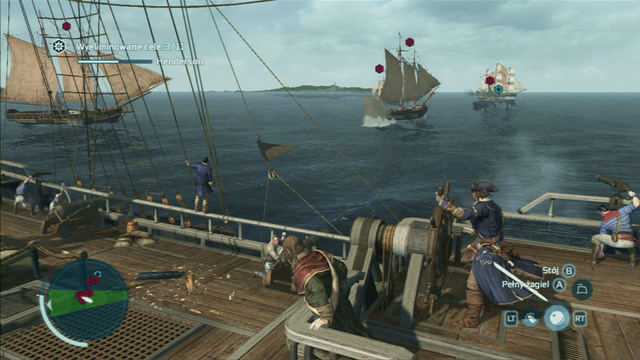During naval missions, you will be often attacked by enemy Templar or British units - Naval battles - Ships - Assassins Creed III - Game Guide and Walkthrough
