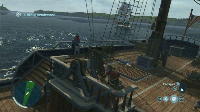 The rudder is controlled with the left analog stick, while speed is mapped under two buttons, respectively the jump and interaction button - Controlling the ship - Ships - Assassins Creed III - Game Guide and Walkthrough