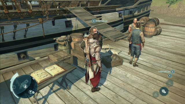 After completing one of the main story missions, you will become the owner and captain of the Assassin flagship, Aquila - Controlling the ship - Ships - Assassins Creed III - Game Guide and Walkthrough